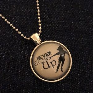 """Never Grow Up"" Necklace"
